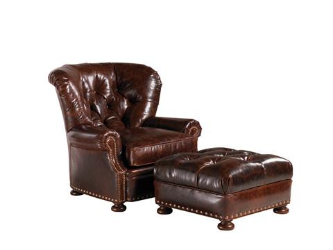 Lexington Home Brands - Elle Leather Ottoman - LL7978-44