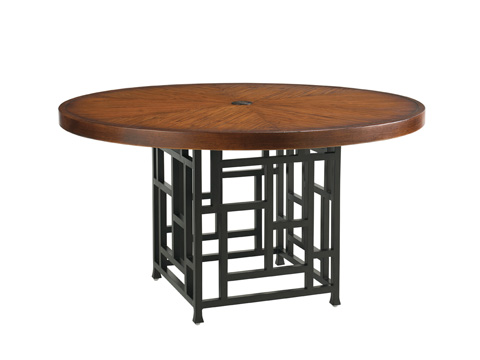 Image of Round Dining Table with Weatherstone Top
