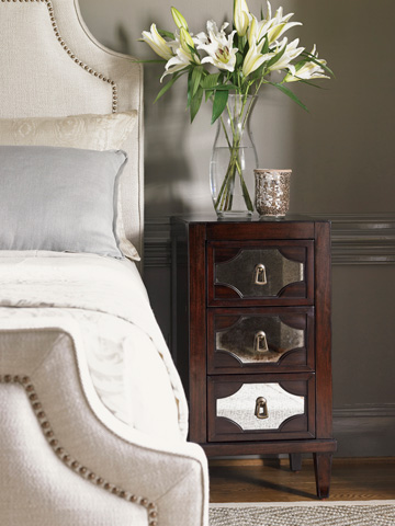 Lexington Home Brands - Lucerne Mirrored Nightstand - 708-623