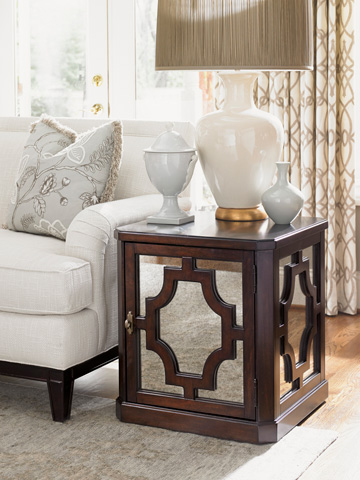 Lexington Home Brands - Benedict Mirrored Lamp Table - 708-950