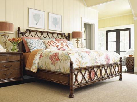 Tommy Bahama - Island Breeze King Rattan Bed - 593-134C