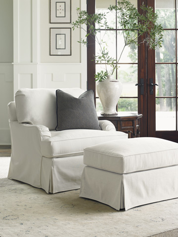 Lexington Home Brands - Stowe Ottoman in Cream Slipcover - SC7476-44CR