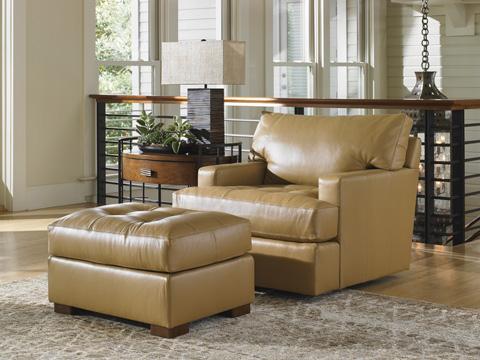 Lexington Home Brands - Osaka Leather Ottoman - 7294-44-01