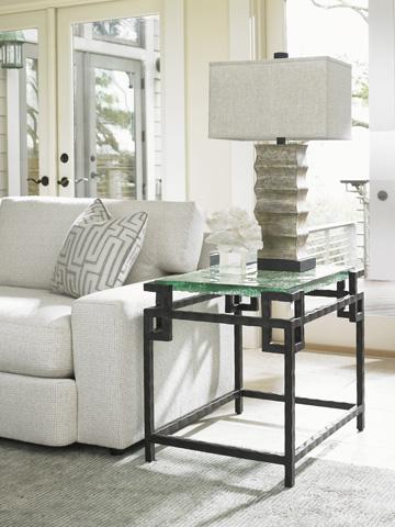 Lexington Home Brands - Hermes Reef Glass Top End Table - 556-953C