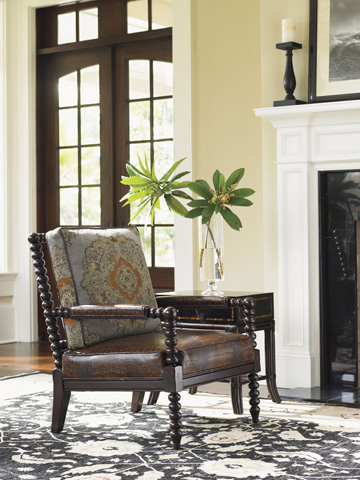Tommy Bahama - Maarten Leather Chair - LL1635-11BB