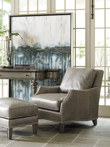 Lexington Home Brands - Ashton Leather Ottoman - 7118-44-02