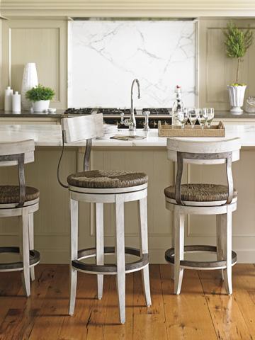 Lexington Home Brands - Merrick Swivel Barstool - 714-816-01