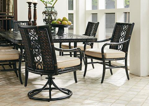 Lexington Home Brands - Outdoor Swivel Rocker Dining Chair - 3237-13SR
