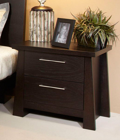 Ligna Furniture - Two Drawer Nightstand - 8122