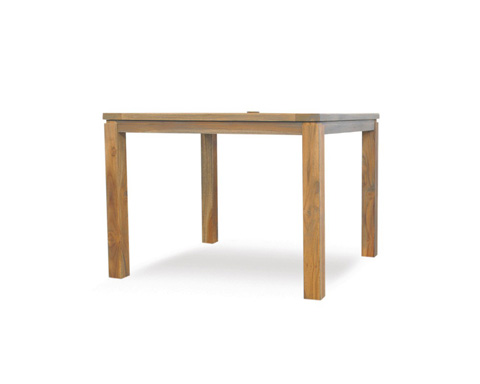 Lloyd Flanders - Antiqued Teak Square Dining Table - 286040