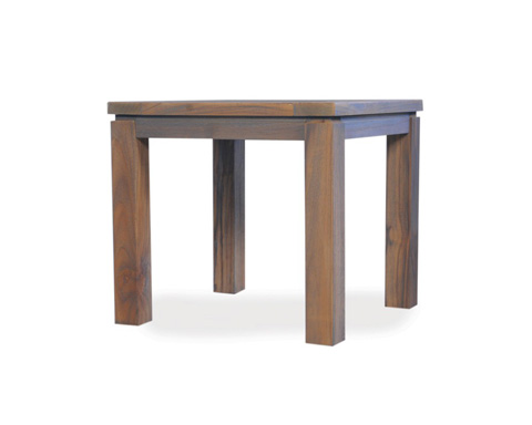 Lloyd Flanders - Antiqued Teak Square End Table - 286043