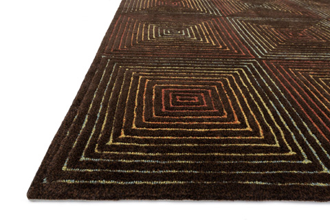Loloi Rugs - Brown and Multi Rug - BH-01 BROWN / MULTI