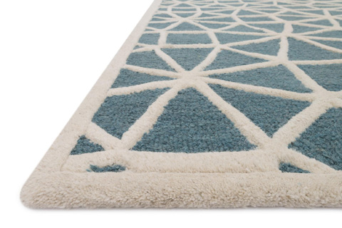 Loloi Rugs - Blue and Ivory Rug - CF-03 BLUE / IVORY