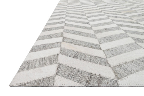 Loloi Rugs - Grey and Ivory Rug - DB-01 GREY / IVORY