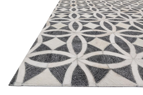 Loloi Rugs - Graphite and Ivory Rug - DB-06 GRAPHITE / IVORY