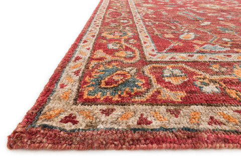 Loloi Rugs - Red and Red Rug - EU-05 RED / RED