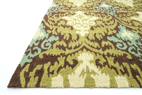 Loloi Rugs - Brown and Green Rug - FC-15 BROWN / GREEN
