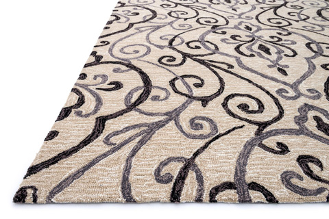 Loloi Rugs - Ivory and Grey Rug - FC-18 IVORY / GREY