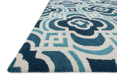 Loloi Rugs - Blue and Turquoise Rug - FC-46 BLUE / TURQUOISE