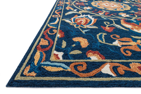 Loloi Rugs - Blue and Spice Rug - FC-54 BLUE / SPICE