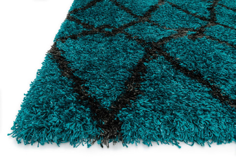Loloi Rugs - Blue and Charcoal Rug - HCO01 BLUE / CHARCOAL