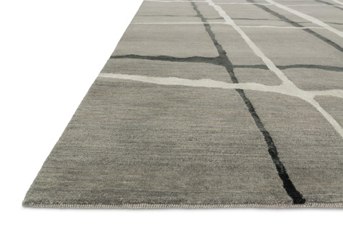 Loloi Rugs - Silver and Black Rug - HE-11 SILVER / BLACK