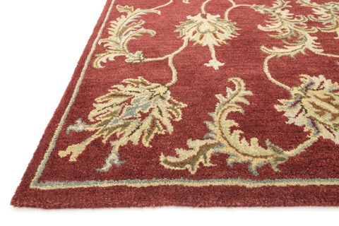 Loloi Rugs - Red Rug - HFF13 RED