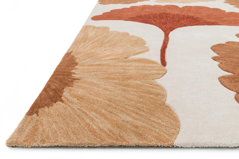 Loloi Rugs - Ivory and Rust Rug - HFL06 IVORY / RUST