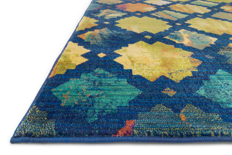Loloi Rugs - Blue and Multi Rug - HLZ10 BLUE / MULTI