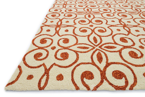 Loloi Rugs - Ivory and Spice Rug - HVT07 IVORY / SPICE