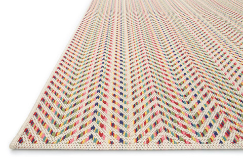 Loloi Rugs - Ivory and Multi Rug - IB-10 IVORY / MULTI