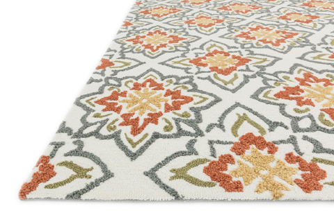 Loloi Rugs - Ivory and Rust Rug - JL-35 IVORY / RUST