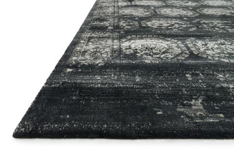 Loloi Rugs - Black and Charcoal Rug - JO-08 BLACK / CHARCOAL