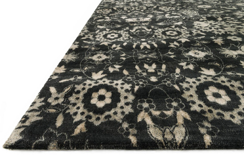 Loloi Rugs - Black and Silver Rug - JO-09 BLACK / SILVER