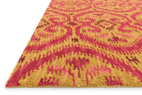 Loloi Rugs - Gold and Berry Rug - ML-09 GOLD / BERRY