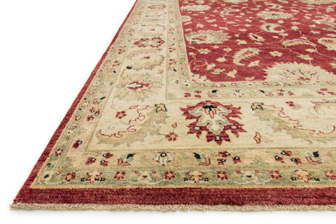 Loloi Rugs - Red and Ivory Rug - MM-04 RED / IVORY