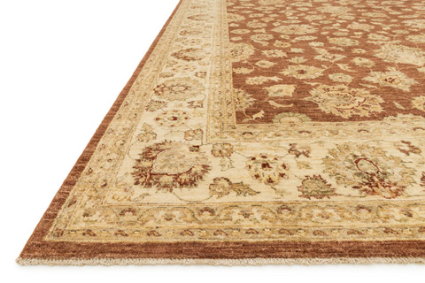 Loloi Rugs - Rust and Ivory Rug - MM-07 RUST / IVORY