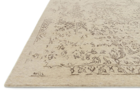Loloi Rugs - Antique Ivory and Taupe Rug - PU-03 ANTIQUE IVORY / TAUPE