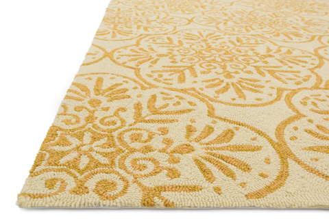 Loloi Rugs - Ivory and Buttercup Rug - VB-06 IVORY / BUTTERCUP
