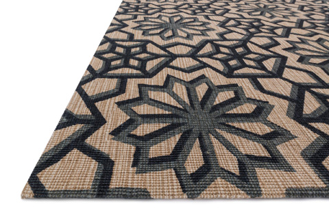 Loloi Rugs - Natural and Charcoal Rug - VO-01 NATURAL / CHARCOAL