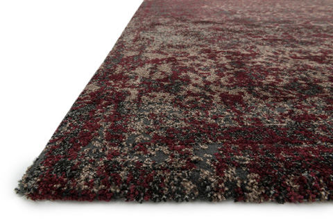 Loloi Rugs - Charcoal and Red Rug - VR-05 CHARCOAL / RED