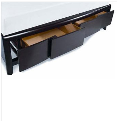 Magnussen Home - Nova Chestnut Island Storage Platform Bed - B1428 STOR