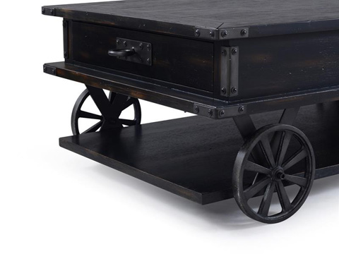 Magnussen Home - Rectangular Cocktail Table with Castors - T3165-43
