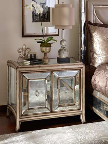 Marge Carson - Cabinet Nightstand - BOS13