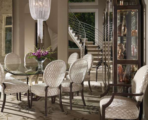 Marge Carson - Glass Top Dining Table - BOL08G