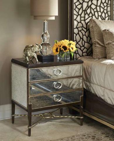 Image of Mirrored Drawer Nightstand