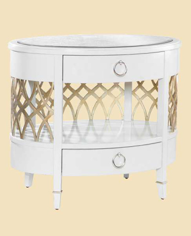 Marge Carson - Oval Nightstand - BOL13