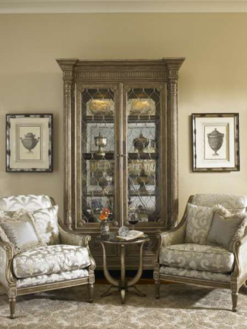 Marge Carson - Mirrored Back Display Cabinet - TRC09