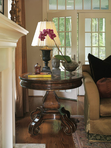 Marge Carson - Round Pedestal Side Table - VA04