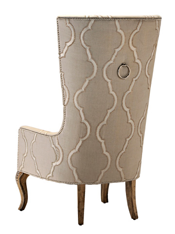 Marge Carson - Upholstered Dining Host Chair - RVL65